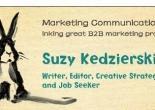 Suzy Kedzierski business card.
