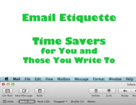 Email Etiquette - Time Saving Tips
