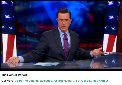 Stephen Colbert Report Video
