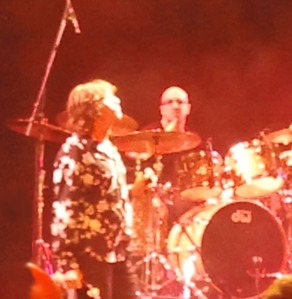 Vocalist David Brock and Drummer Ty Dennis at Sept. 28, 2012 concert featuring The Doors founding members, Ray Manzarek and Robbie Krieger
